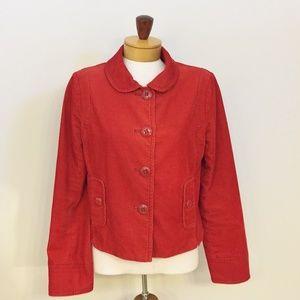 J. Crew Red Soft Cotton Corduroy Jacket 6